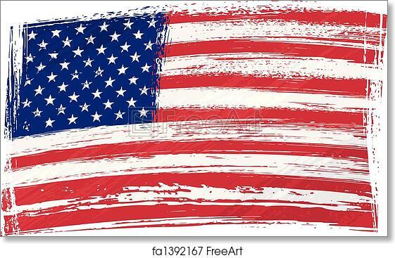 Free Art Print Of Grunge Usa Flag Usa National Flag Created In