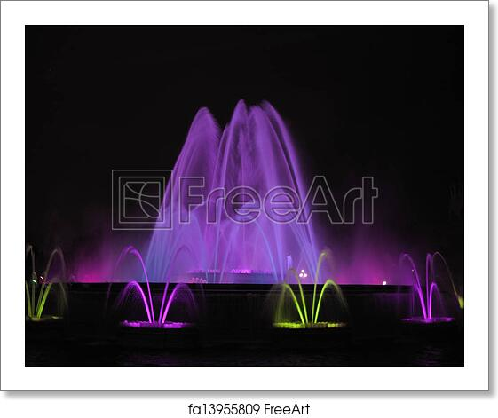 Free Art Print Of Barcelona Colors Source Night Colors Show Freeart Fa13955809