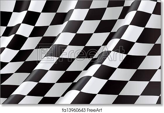 photograph regarding Checkered Flag Printable called No cost artwork print of Checkered Flag, vector history