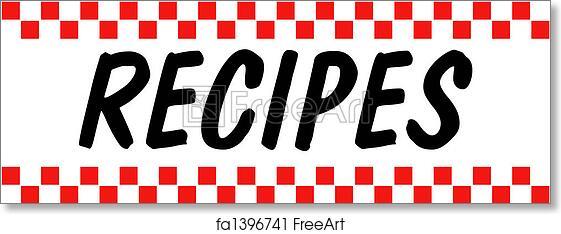 Free art print of Recipe Baking Cooking Retro Vintage