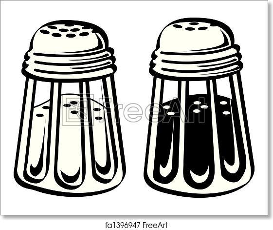 Free Art Print Of Salt And Pepper Shaker Clip Art Salt