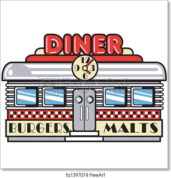 free art print of 1950s fifties diner clip art 1950s fifties style rh freeart com dinner clipart dinner clip art pictures