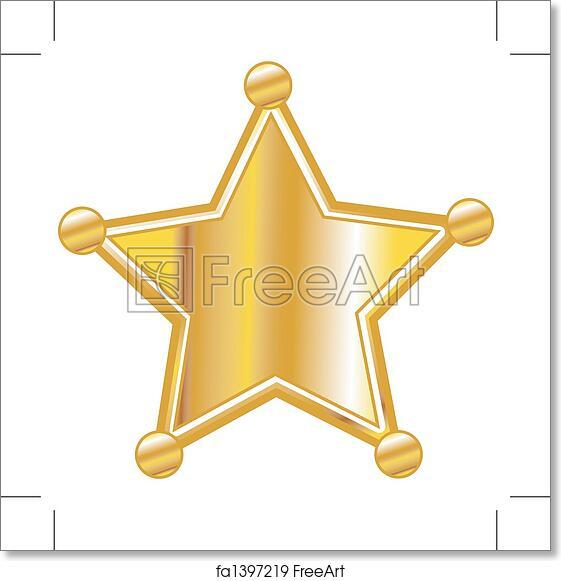 free art print of sheriff badge clip art freeart fa1397219 rh freeart com Sheriff Logo Clip Art old west sheriff badge clipart