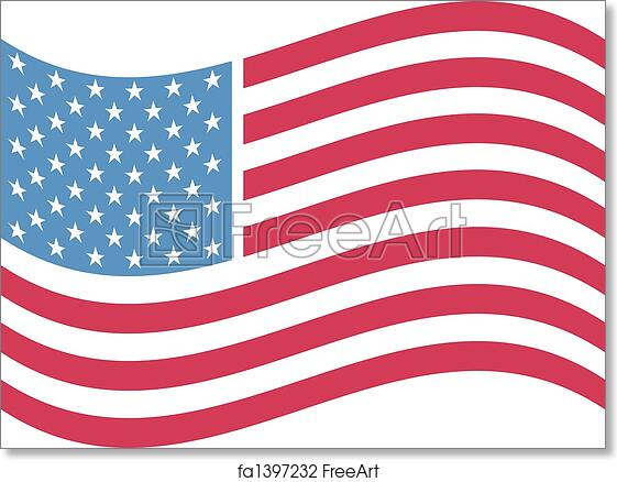 photo relating to Free Printable American Flag called Cost-free artwork print of American flag clip artwork