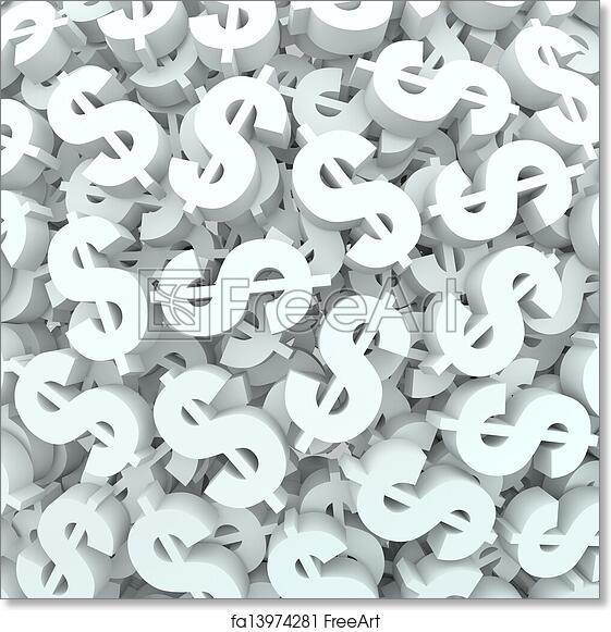 free art print of currency money background dollar signs finance a