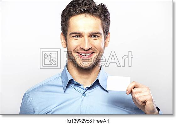 Free art print of smiling handsome guy with business card smiling free art print of smiling handsome guy with business card colourmoves