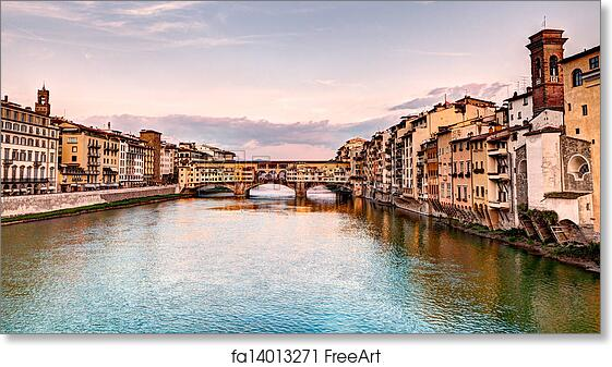free art print of ponte vecchio florence italy landscape at