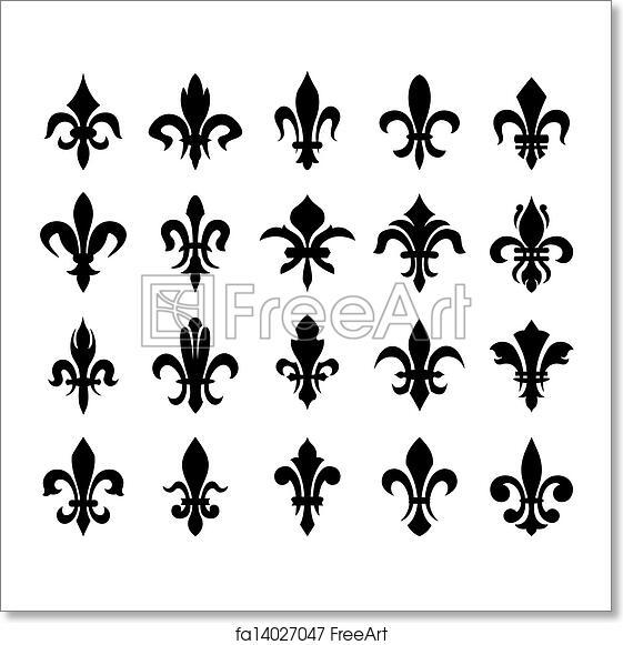 Free Art Print Of Heraldic Symbols Fleur De Lis Lily Flower
