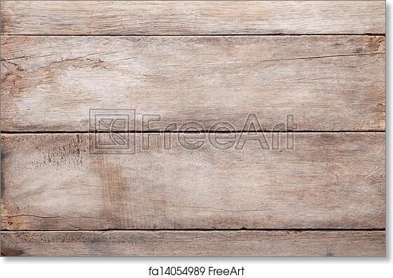 Free Art Print Of Weathered Wooden Table Background, Top View