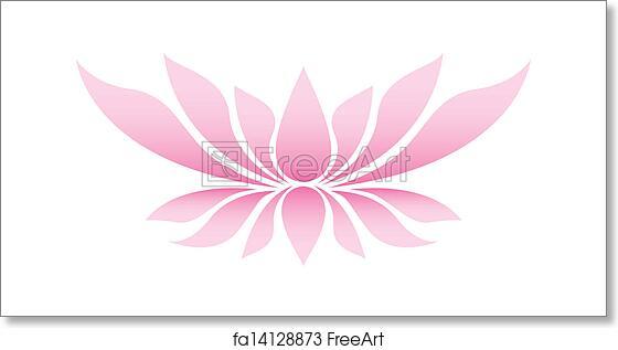 Free Art Print Of Illustration Of The Lotus Flower Illustration Of