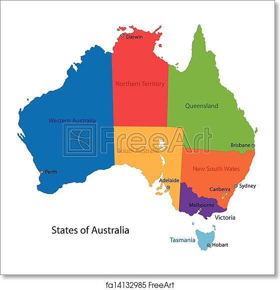 Free Map Of Australia To Print.Free Art Print Of Australia Map