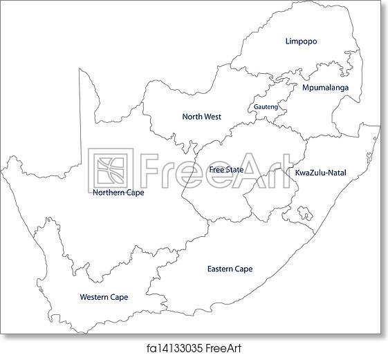 Outline Of Africa Map.Free Art Print Of Outline South Africa Map South Africa Map