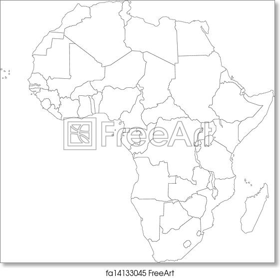 Outline Of Africa Map.Free Art Print Of Outline Africa Map Outline Africa Map With