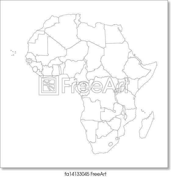 Free Art Print Of Outline Africa Map Outline Africa Map With