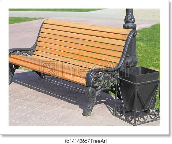 Pleasant Free Art Print Of Wooden Bench With An Urn Pabps2019 Chair Design Images Pabps2019Com