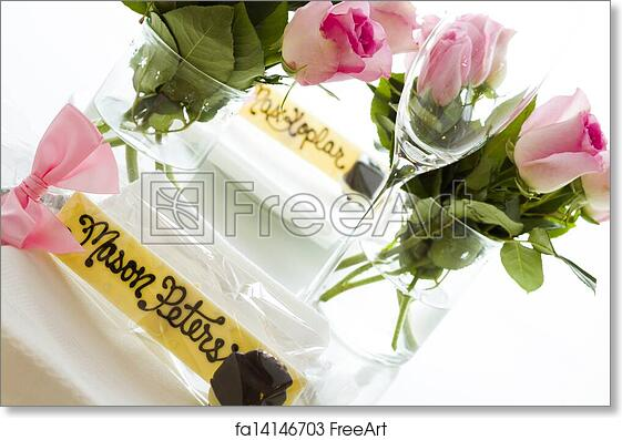 Free Art Print Of Wedding Favors Personolized Guest Chocolate Name Plate For The
