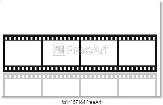 Free art print of Film picture frames. 35mm format movie filmstrip ...