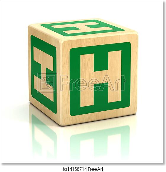 Free Art Print Of Letter H Alphabet Cubes Font