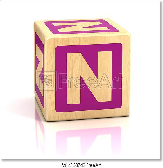 Free Art Print Of Letter N Alphabet Cubes Font N Letter Preschool