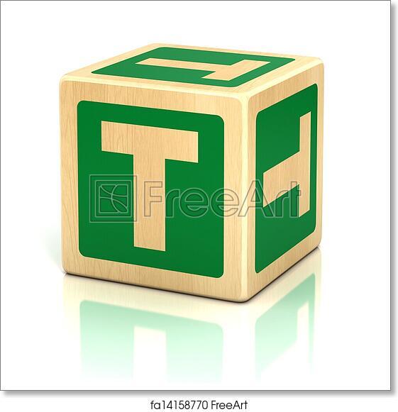 Free Art Print Of Letter T Alphabet Cubes Font Preschool T Icon