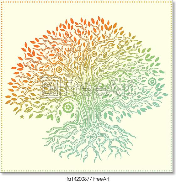 photograph regarding Tree of Life Printable identified as Free of charge artwork print of Eye-catching classic hand drawn tree of lifetime