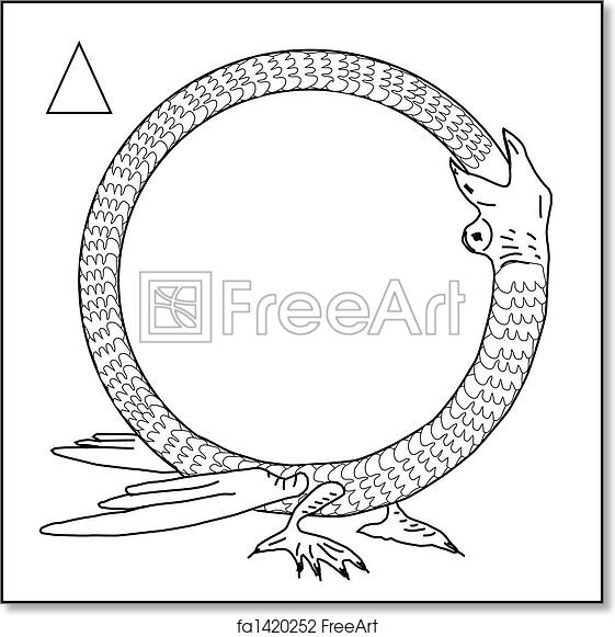 Free art print of Frame, dragon eating himself. Alchemical dragon ...