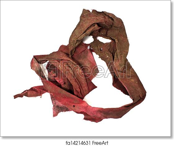 75ed994e2dfc7 Free art print of Dirty red rag on a white background. Dirty red rag ...