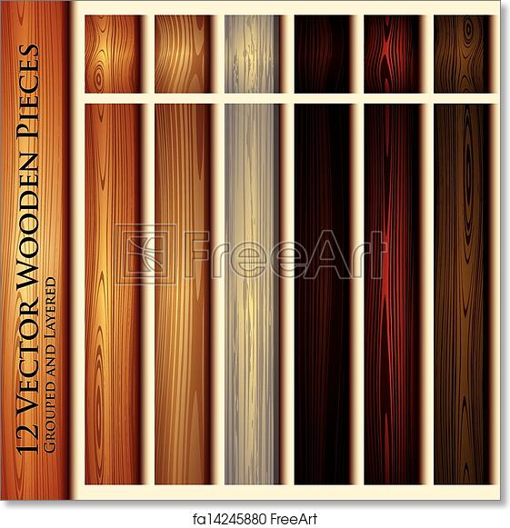 Free art print of Wooden texture seamless background illustration