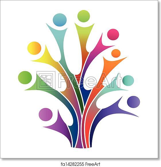 Free Art Print Of Family Tree Symbol Vector Illustration Of Family