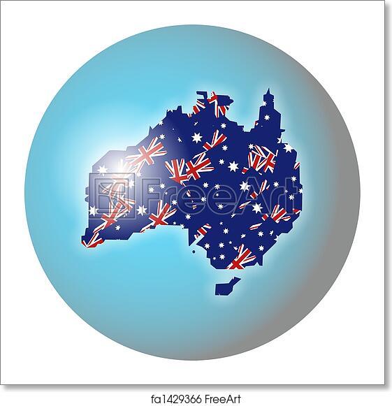 Australia Map Globe.Free Art Print Of Australian Globe
