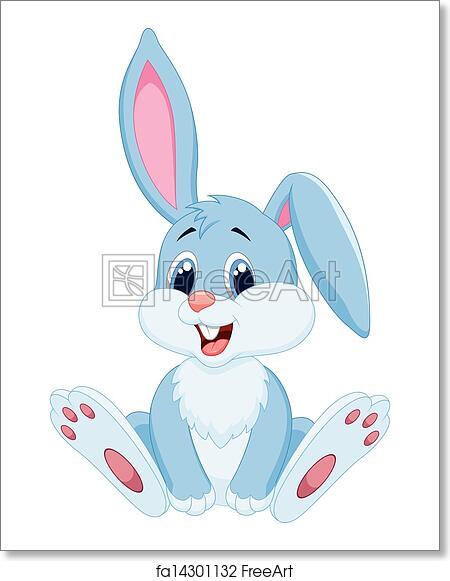 Free Art Print Of Cute Rabbit Cartoon Vector Illustration Of Cute