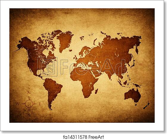 Free art print of old world map old map of the world freeart free art print of old world map gumiabroncs Image collections