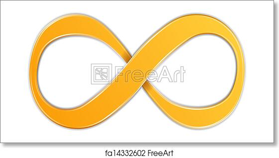 Free Art Print Of Infinity Symbol Orange Infinity Symbol Vector