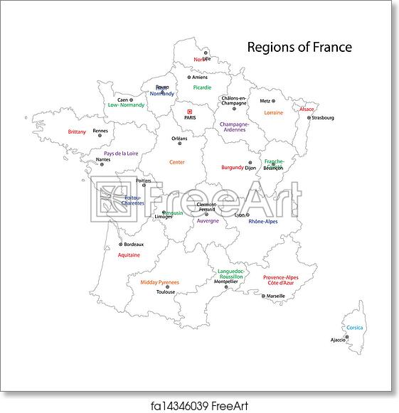 Free Art Print Of Outline France Map Outline France Map With