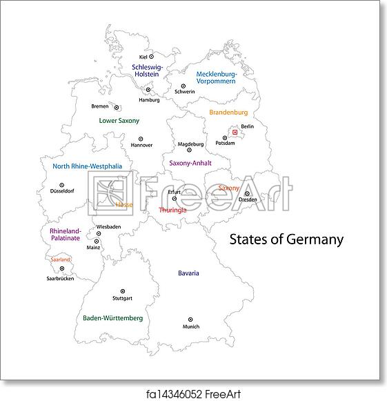 Map Of Germany Outline.Free Art Print Of Outline Germany Map Outline Germany Map With