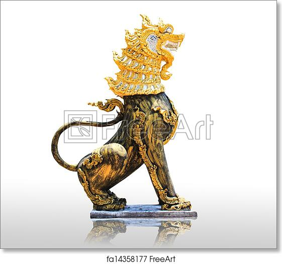 Free Art Print Of Chinese Stone Lion Statue The Symbol Of Power For