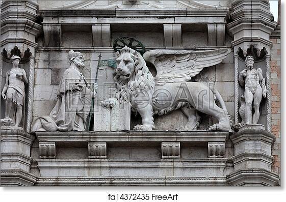 Free Art Print Of Venice Winged Lion Of St Mark Symbol Of Venice