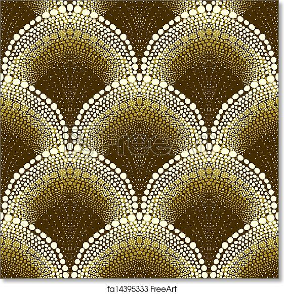 Free art print of Dotted geometric pattern in art deco style. Dotted ...