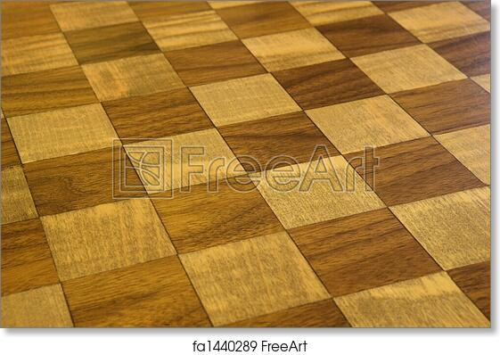Free Art Print Of Checkered Wooden Floor Brown And Tan Checkered