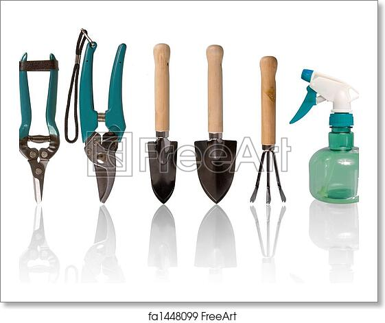 Free Art Print Of Small Gardening Tools Five Gardening Tools And
