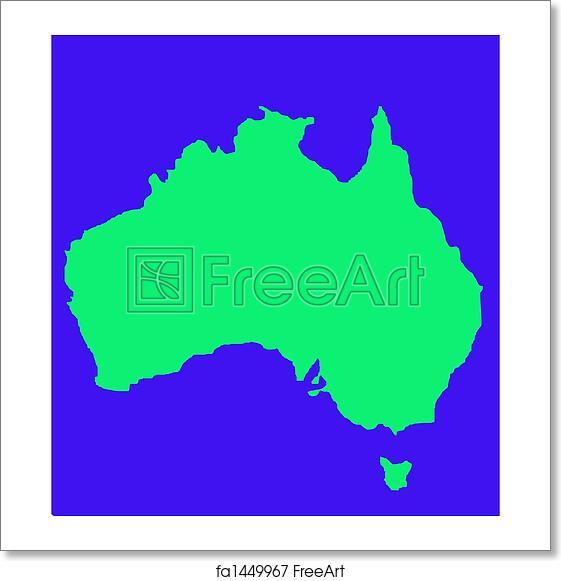 Free Map Of Australia To Print.Free Art Print Of Outline Map Of Australia And Tasmania
