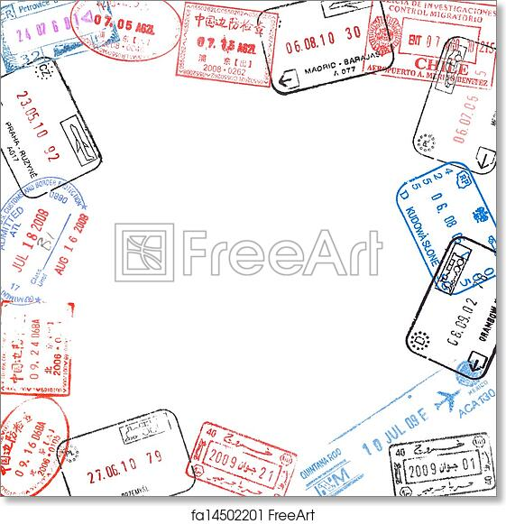 Free art print of Frame from passport visa stamps. Frame from ...