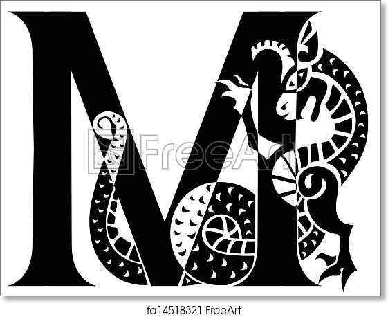 Free Art Print Of Capital Letter M