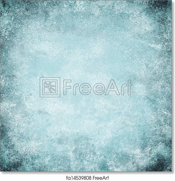 Free art print of Abstract blue background light color vintage grunge  background texture design