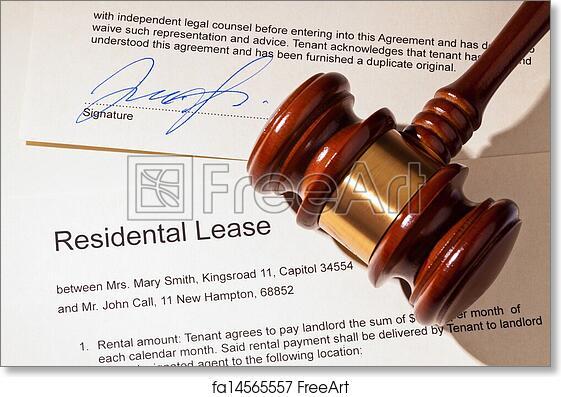 Free art print of Apartment keys and rental agreement