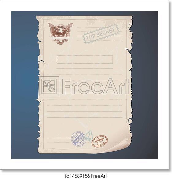 Free art print of Top Secret Document Template