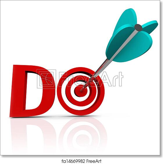 Free art print of Do Arrow in 3D Word Take Action Go Forward