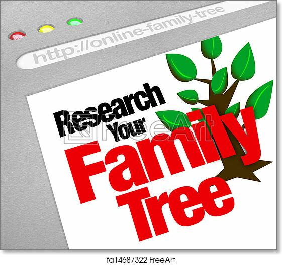 free art print of research your family tree online website research