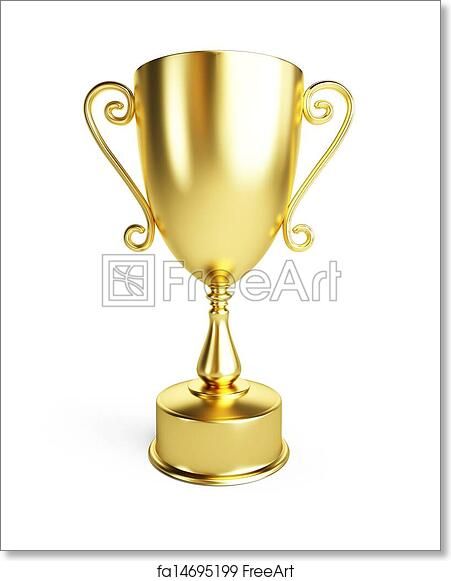 photo relating to Printable Trophy titled Free of charge artwork print of Gold trophy cup