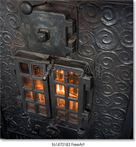 Free Art Print Of Cast Iron Fireplace An Old Cast Iron Oven With